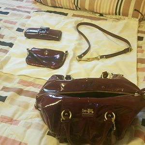 Coach Purse w/ matching wallet and bonus purse